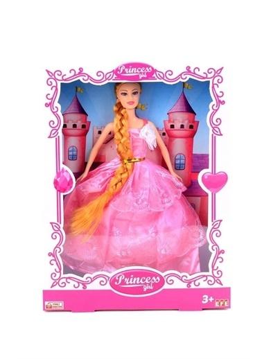 Efe Efe Oyuncak Uzun Saçlı Princess Girls Bebek Oranj